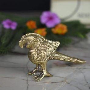 Handmade Brass Dhokra Parrot Miniature Figurine