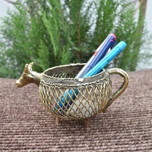 Handmade Brass Bull Pen Stand