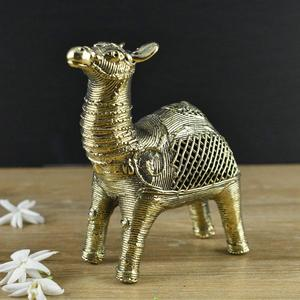 Handmade Brass Dhokra Big Camel Figurine
