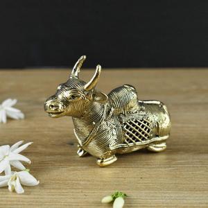 Handmade Brass Dhokra Medium Bull Figurine