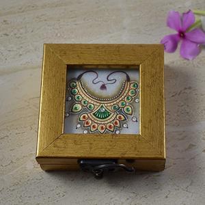 Marble Tile Coin Box – 22 Carat Gold Foil Work