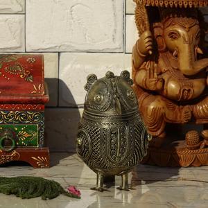 Dhokra Box with Owl Shape – Jewelry Box