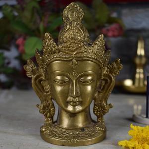 Brass Goddess Tara Devi Head for Home Decor