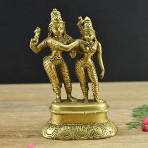 Brass Lord Vishnu Laxmi/Lakshmi for Home