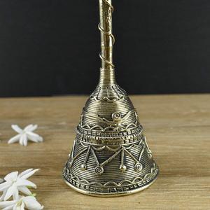 Handmade Brass Dhokra Puja Hand Bell