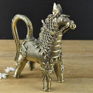 Handmade Brass Dhokra Bankura Horse