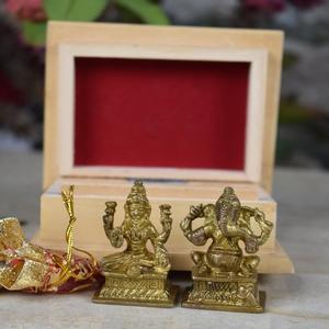 Brass Ganesha Laxmi – Gifting Combo Set