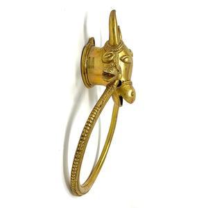 Brass Aesthetic Hanging Cow Door Knocker
