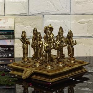 Brass Navgrah Statue Set / Nine Planets